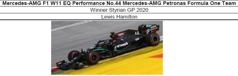 ◎予約品◎ Mercedes-AMG F1 W11 EQ Performance No.44   Winner Styrian GP 2020   Lewis Hamilton