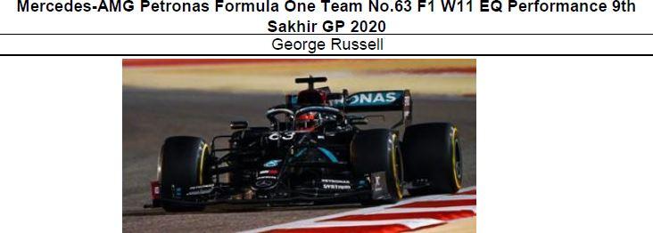 ◎予約品◎ Mercedes-AMG Petronas Formula One Team No.63 F1 W11 EQ Performance 9th Sakhir GP 2020 George Russell