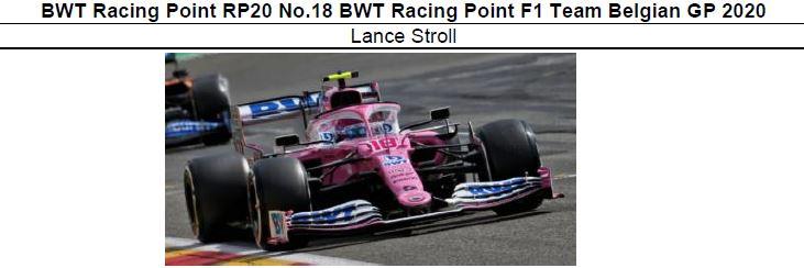 ◎予約品◎ BWT Racing Point RP20 No.18 BWT Racing Point F1 Team Belgian GP 2020 Lance Stroll