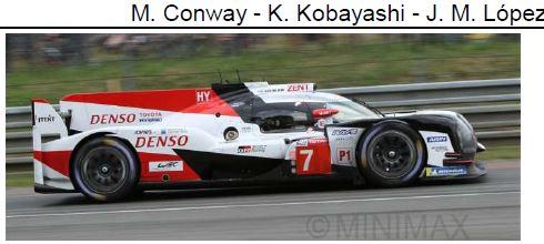 ◎予約品◎ TOYOTA TS050 HYBRID No.7 TOYOTA GAZOO Racing 2nd 24H Le Mans 2018 M. Conway - 小林 可夢偉 - J. M. Lopez