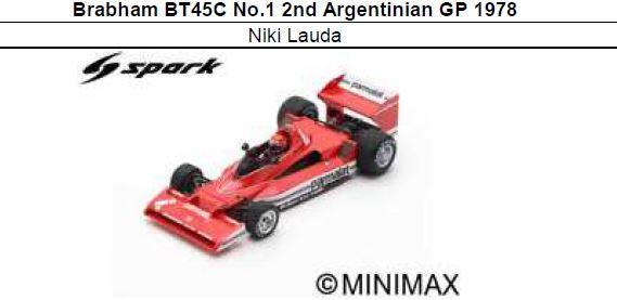 ◎予約品◎ Brabham BT45C No.1 2nd Argentinian GP 1978 Niki Lauda