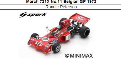 ◎予約品◎ March 721X No.11 Belgian GP 1972  Ronnie Peterson