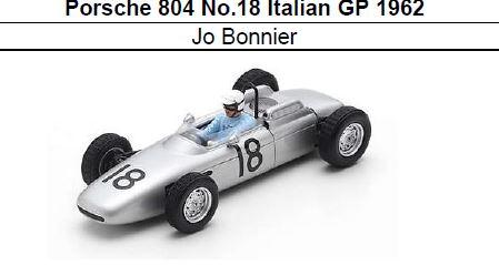 ◎予約品◎ Porsche 804 No.18 Italian GP 1962 Jo Bonnier