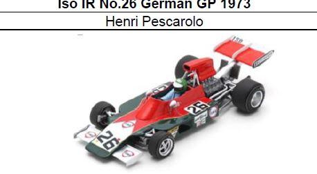 ◎予約品◎ Iso IR No.26 German GP 1973 Henri Pescarolo