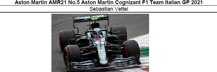 ◎予約品◎ Aston Martin AMR21 No.5 Aston Martin Cognizant F1 Team Italian GP 2021 Sebastian Vettel