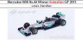 ◆4週間程で入荷◆1/18 Mercedes W06 No.44  Winner Australian GP 2015 Lewis Hamilton