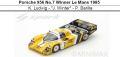 ◎予約品◎1/18 Porsche 956 No.7 Winner Le Mans 1985
