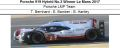 ◎予約品◎1/18 Porsche 919 Hybrid No.2 Winner Le Mans 2017  Porsche LMP Team  T. Bernhard - E. Bamber - B. Hartley