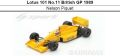 ◎予約品◎1/18 Lotus 101 No.11 British GP 1989  Nelson Piquet