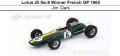 ◆1/18 Lotus 25 No.6 Winner French GP 1965  Jim Clark◆海外取り寄せ(2週間程で入荷)◆