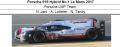 ◎予約品◎1/18 Porsche 919 Hybrid No.1 Le Mans 2017  Porsche LMP Team  N. Jani - A. Lotterer - N. Tandy