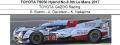 ◎予約品◎1/18 TOYOTA TS050 Hybrid No.8 8th Le Mans 2017  TOYOTA GAZOO Racing  S. Buemi - A. Davidson - 中嶋一貴