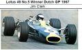 ◎予約品◎ 1/18Lotus 49 No.5 Winner Dutch GP 1967 Jim Clark