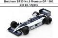 ◎予約品◎ 1/18Brabham BT55 No.8 Monaco GP 1986 Elio de Angelis