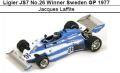◎予約品◎ 1/18Ligier JS7 No.26 Winner Sweden GP 1977 Jacques Laffite