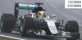 ◎予約品◎ メルセデス AMG ペトロナス F1 チーム W07 ハイブリッド ルイス・ハイミルトン  ブラジルGP 2016 ウィナー (レインタイヤ/ヘルメット イン ゴールド)
