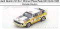 ◎予約品◎Audi Quattro S1 No.1 Winner Pikes Peak Hill Climb 1985  Michele Mouton