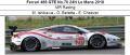 ◎予約品◎ Ferrari 488 GTE No.70 24H Le Mans 2018  MR Racing M. Ishikawa - O. Beretta - E. Cheever