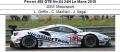 ◎予約品◎ Ferrari 488 GTE No.84 24H Le Mans 2018  JMW Motorsport L. Griffin - C. MacNeil - J. Segal