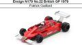 ◎予約品◎ Ensign N179 No.22 British GP 1979 Patrick Gaillard