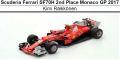 ◎予約品◎1/18 スクーデリア フェラーリ SF70H 2nd Place Monaco GP 2017  K.ライコネン