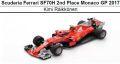 ◎予約品◎スクーデリア フェラーリ SF70H 2nd Place Monaco GP 2017  K.ライコネン