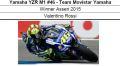 ◎予約品◎ 1/12 Yamaha YZR M1 #46 - Team Movistar Yamaha Winner Assen 2015 Valentino Rossi
