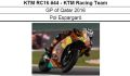 ◎予約品◎ 1/12 KTM RC16 #44 - KTM Racing Team GP of Qatar 2016  Pol Espargaro