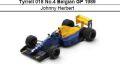 ◎予約品◎ Tyrrell 018 No.4 Belgian GP 1989 Johnny Herbert