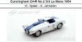 ◎予約品◎Cunningham C4-R No.2 3rd Le Mans 1954  W. Spear - S. Johnston