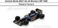 ◎予約品◎Andrea Moda S921 No.34 Monaco GP 1992  Roberto Moreno