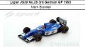 ◎予約品◎Ligier JS39 No.26 3rd German GP 1993  Mark Blundell