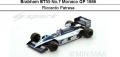 ◎予約品◎ Brabham BT55 No.7 Monaco GP 1986  Riccardo Patrese
