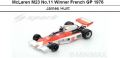 ◎予約品◎McLaren M23 No.11 Winner French GP 1976  James Hunt