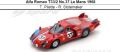 ◎予約品◎ Alfa Romeo T33/2 No.37 Le Mans 1968   T. Pilette - R. Slotemaker