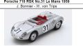◎予約品◎ Porsche 718 RSK No.31 Le Mans 1959  J. Bonnier - W. von Trips