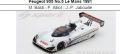 ◎予約品◎Peugeot 905 No.5 Le Mans 1991  M. Baldi - P. Alliot - J.-P. Jabouille