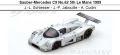 ◎予約品◎ Sauber-Mercedes C9 No.62 5th Le Mans 1989  J.-L. Schlesser - J.-P. Jabouille - A. Cudini