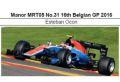 ◆マノー MRT05 No.31 16th Belgian GP 2016  E.オコン