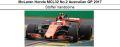 ◎予約品◎1/18 McLaren Honda No.2 Australian GP 2017 MCL32 Honda  Stoffel Vandoorne