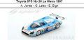 ◎予約品◎Toyota 87C No.36 Le Mans 1987  A. Jones - G. Lees - E. Elgh