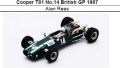 ◎予約品◎ Cooper T81 No.14 British GP 1967  Alan Rees