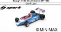 ◎予約品◎ Ensign N180 No.41 Dutch GP 1980 Geoff Lees
