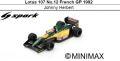 ◎予約品◎ Lotus 107 No.12 French GP 1992 Johnny Herbert