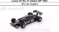◎予約品◎ Lotus 87 No.11 Italian GP 1981  Elio de Angelis