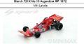 ◎予約品◎March 721X No.15 Argentina GP 1972  Niki Lauda