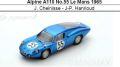 ◎予約品◎ Alpine A110 No.55 Le Mans 1965  J. Cheinisse - J-P. Hanrioud