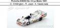 ◎予約品◎Porsche 908/80 No.14 Le Mans 1981  D. Whittington - R. Joest - K. Niedzwiedz