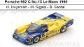 ◎予約品◎Porsche 962 C No.15 Le Mans 1990  H. Huysman - M. Sigala - B. Santal