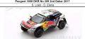 ◎予約品◎ Peugeot 3008 DKR No.309 2nd Dakar 2017   S. Loeb - D. Elena